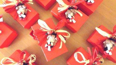 BOMBONIERA COMPLETA con scatolina confetti PER LAUREA   - fimo - FOLLETTA LAUREATA  - porta confetti