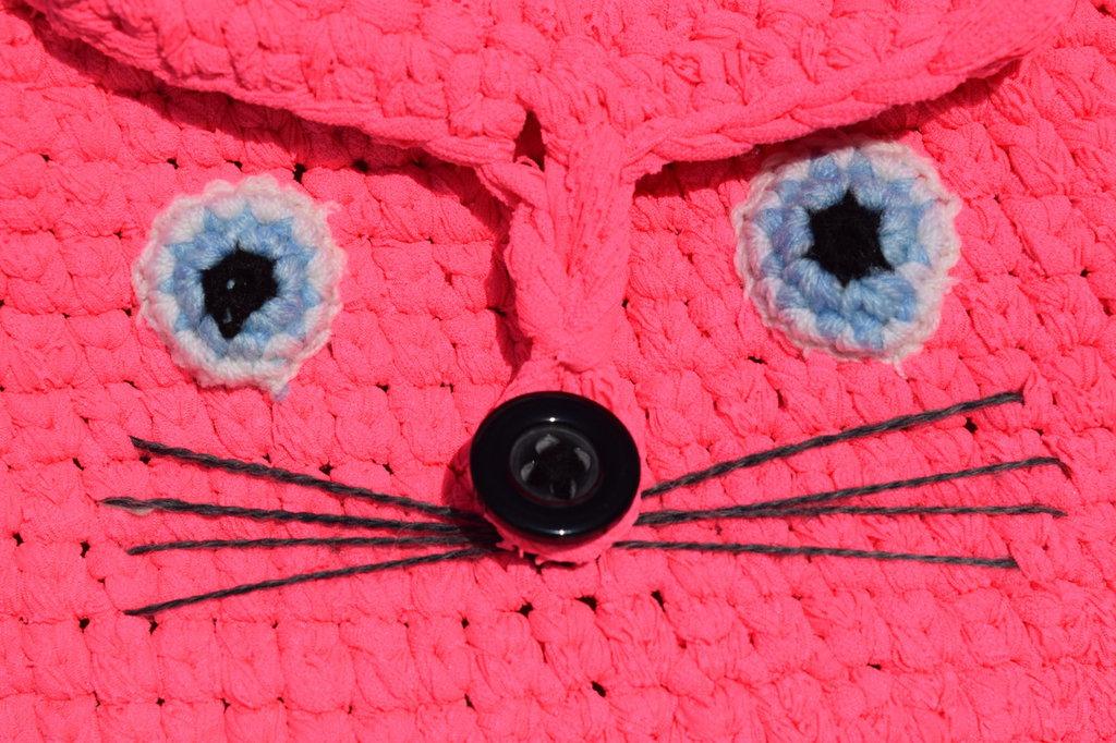 Zainetto  a forma di gattino rosa fucsia