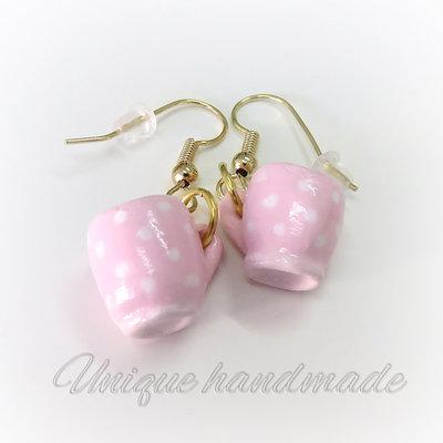 Orecchini mug rosa