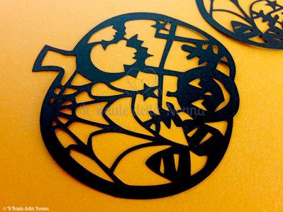 Immagine Zucca Di Halloween 94.Set 2 Sagome Zucca Decorata Halloween Art 94