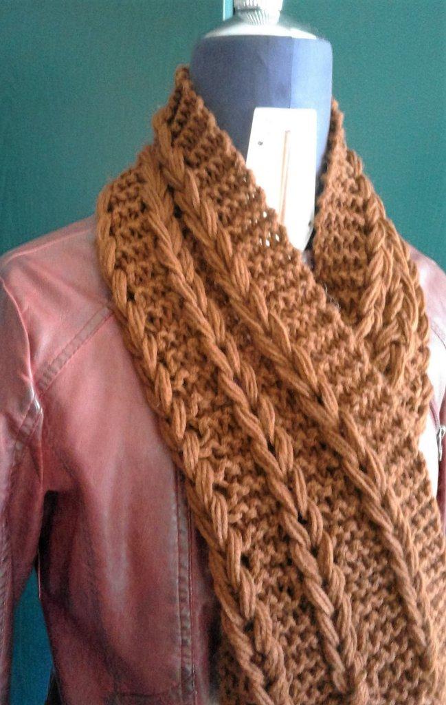 maxi sciarpa e fascia capelli