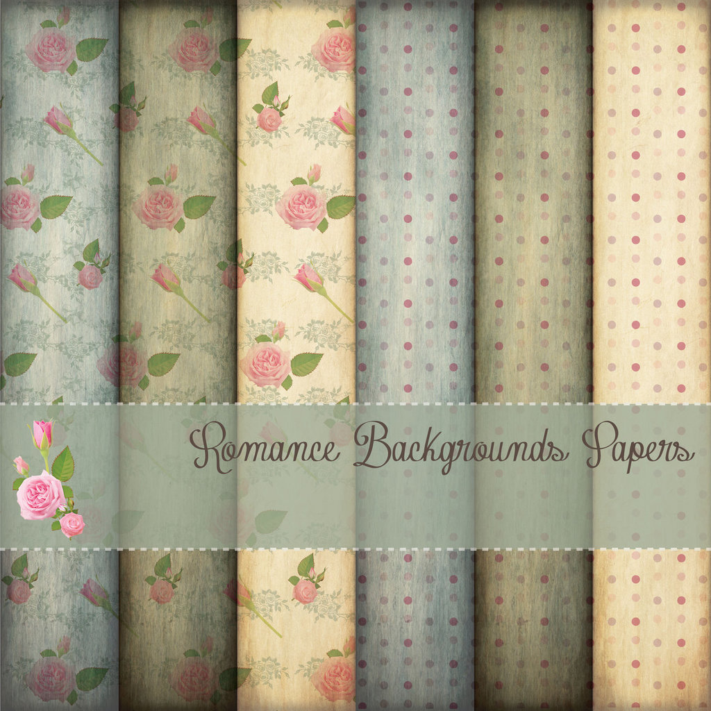 DIGITAL PAPER / CARTA DIGITALE - ROMANCE BACKGROUNDS