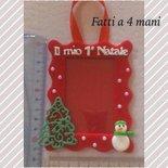 """Porta foto """"il mio primo Natale"""" da appendere"""