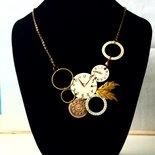 Collana quadranti e ghiere di orologi handmade
