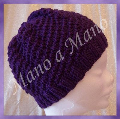 Cappello a cuffia - viola melanzana