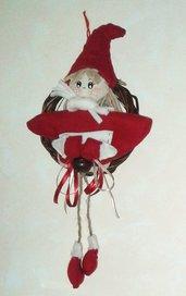 Follette natalizie bianca e rossa
