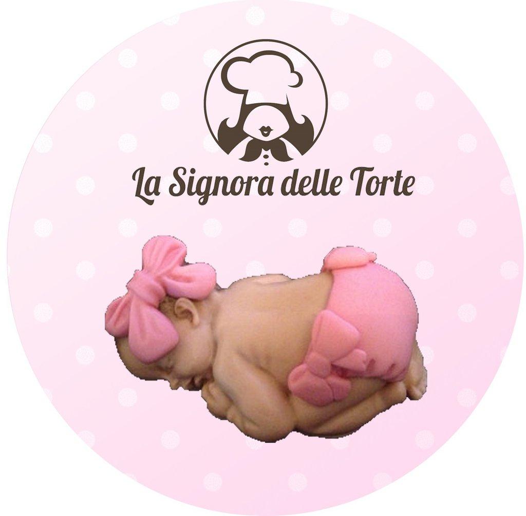 Topper Decorazione TORTA Battesimo _ Nascita _ Neonato Realizzato a mano PDZ