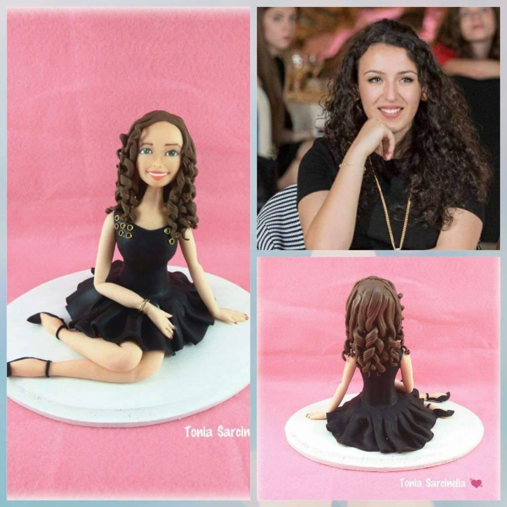 Statua cake topper personalizzato compleanno diciottesimo ragazza