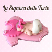 Dettagli su  Topper TORTA Battesimo _ Nascita _ Neonato Realizzato a mano COLORE A SCELTA PDZ