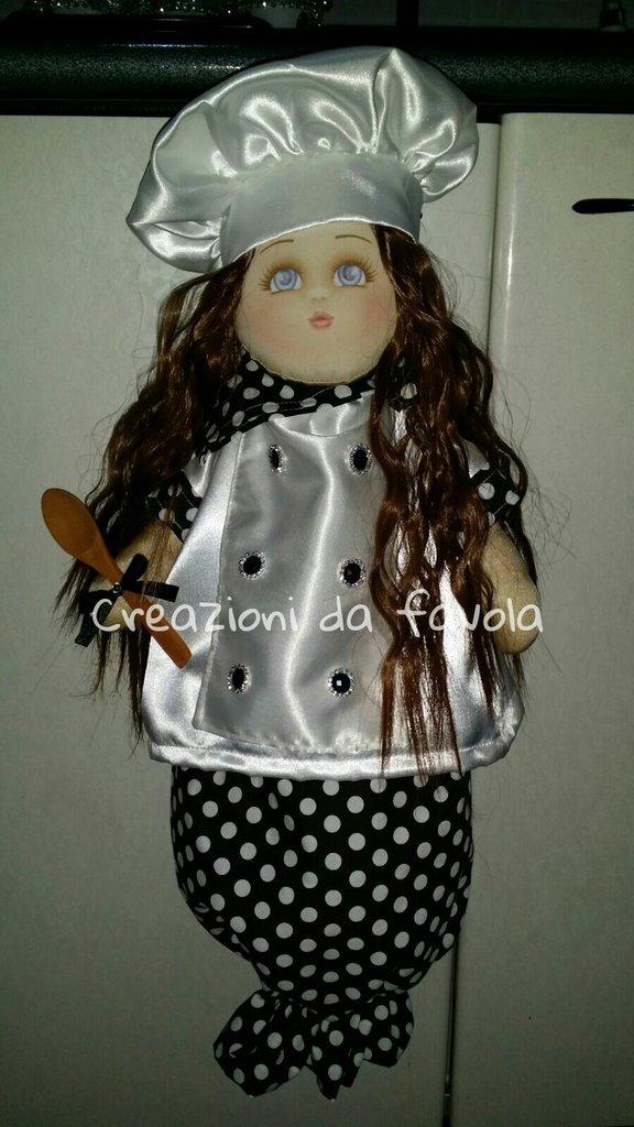 Bambola portasacchetti chef