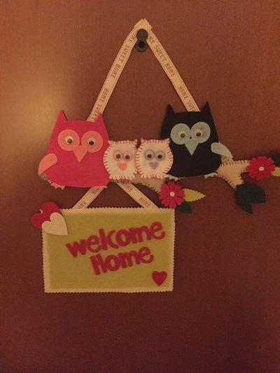 "Targhette ""Welcome Home"""