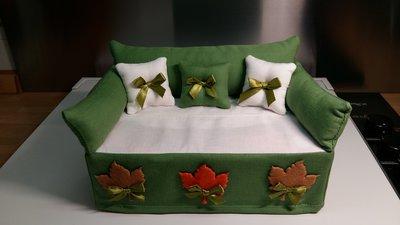 Porta fazzoletti verde con decori feltro per la casa e for Porta kleenex feltro