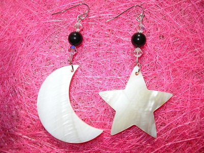 Orecchini sole e luna