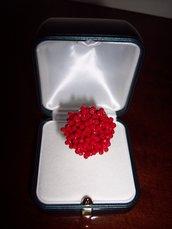 Anello con rondelle rosso