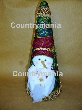 albero di Natale con pupazzo di neve
