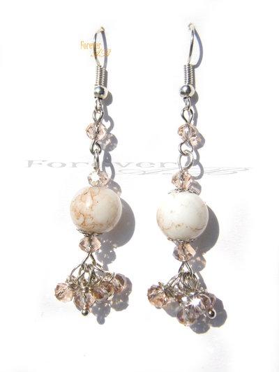Orecchini pendenti con perle idea regalo ragazza donna