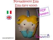 Elsa PDF pattern porta dentini Frozen