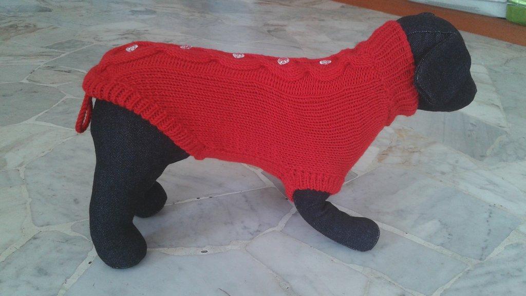 Cappottino rosso in pura lana