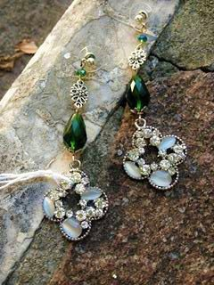 orecchini quadrifoglio verde