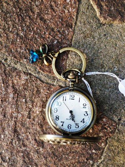 portachiavi orologio antico