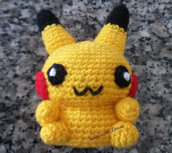 Pikachu pokemon amigurumi