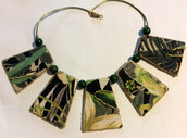 collana verdi foglie