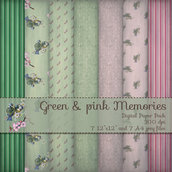 DIGITAL PAPER / CARTA DIGITALE - GREEN & PINK DREAMS