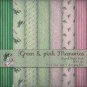 DIGITAL PAPER / CARTA DIGITALE - GREEN & PINK DREAMS