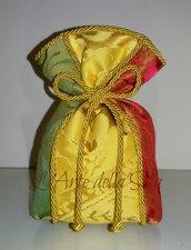 Bomboniera in seta di San Leucio Sacchetto patchwork