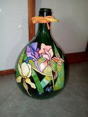 Bottiglione decorativo in vetro