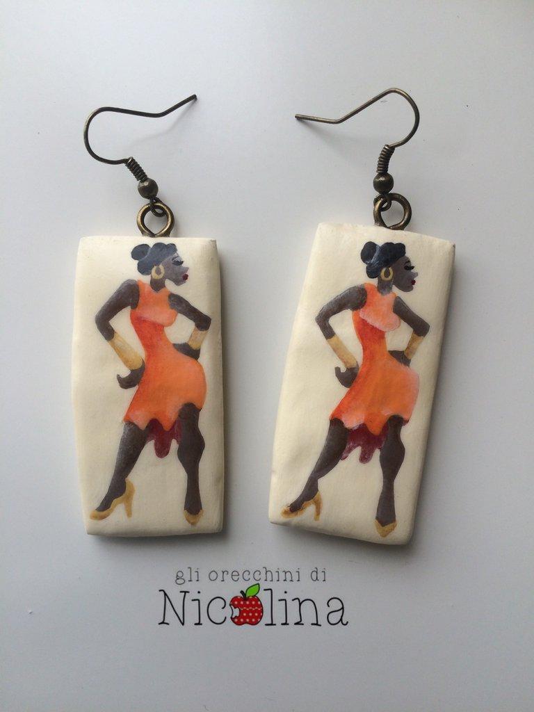 Orecchini ballerina Danze latino americane
