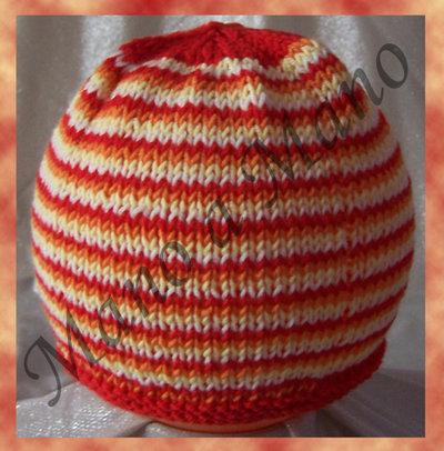 Cuffia Baby Millerighe rosso