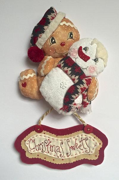 "Natale - fuori porta Ginger e omino di neve  ""CHRISTMAS SWEETS"""