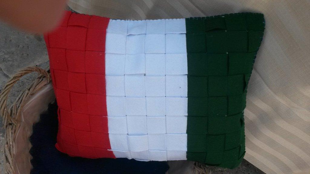 Cuscino bandiera italiana