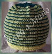 Cuffia Baby Millerighe Verde