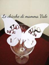 segnaposto bicchiere farfalla 3d