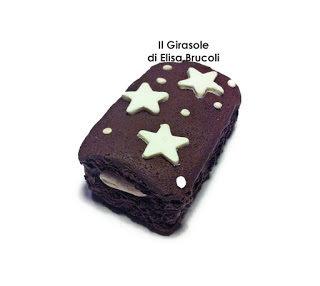 Calamita con merendina al cioccolato e stelle