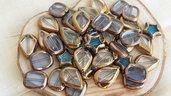 FUORI TUTTO Lotto 1 perle in vetro varie forme e misure 44pz