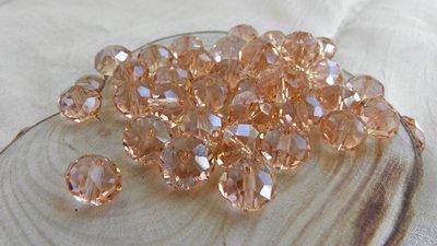 FUORI TUTTO Lotto2 perle mezzo cristallo color rosa salmone circa 88pz