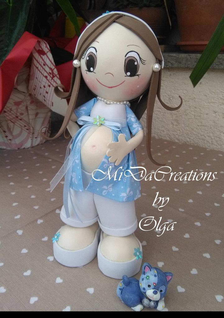 Bambola Eva Incinta (maschietto) !
