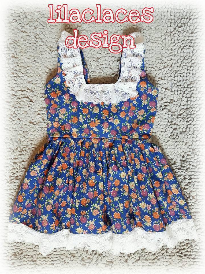 cartamodello abito bambina anni 2 a 6 con pizzo e fiocco