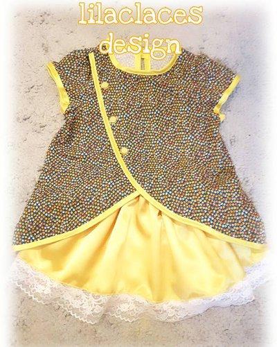 cartamodello abito bambina con gonna a ruota e camicia bordata