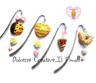 SEGNALIBRO - Waffle a cuore con perle a forma di rosa e cuore - kawaii pastel goth