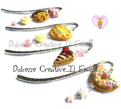 SEGNALIBRO - Cookie con cioccolato, perle, fiocco e rose handmade kawaii