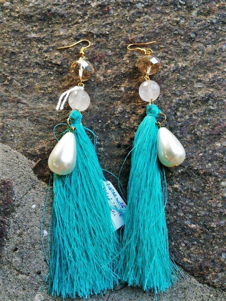 orecchini nappe verde acqua
