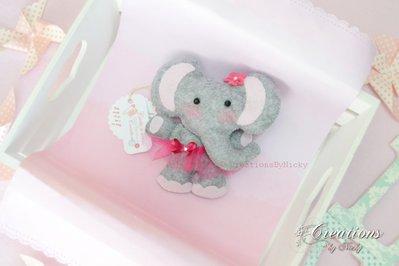 Peluche elefantino decorativo