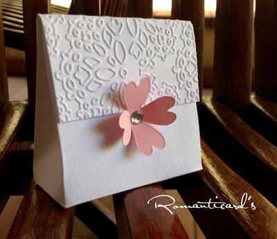Boomboniera porta confetti con fiore by Romanticards