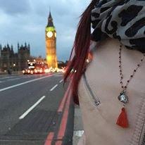 Collana rosario con pietra dura Corallo rosso, Buddha e nappina