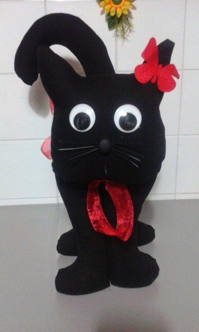 Gatto fermaporta 42 cm nerone