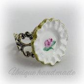 Anello barocco con piattino fatto a mano stile inglese
